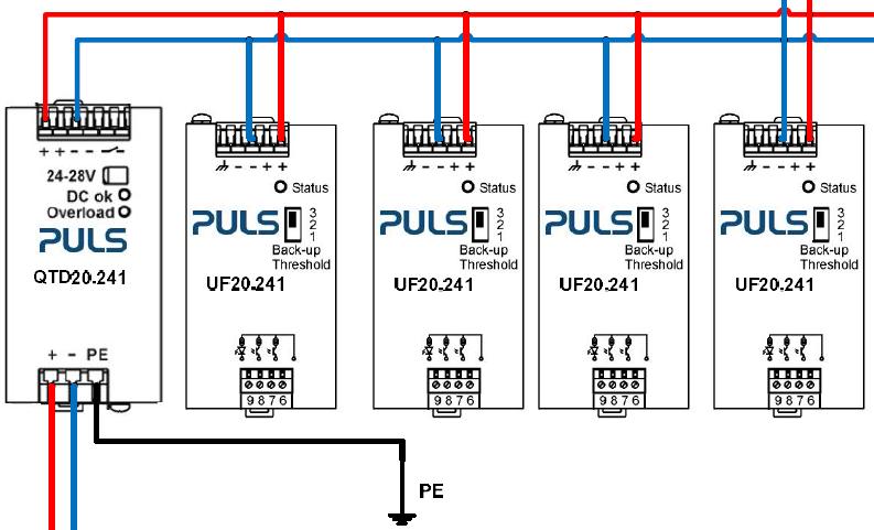 图3 普尔世为纺织机械提供的中间直流总线供电方案接线图